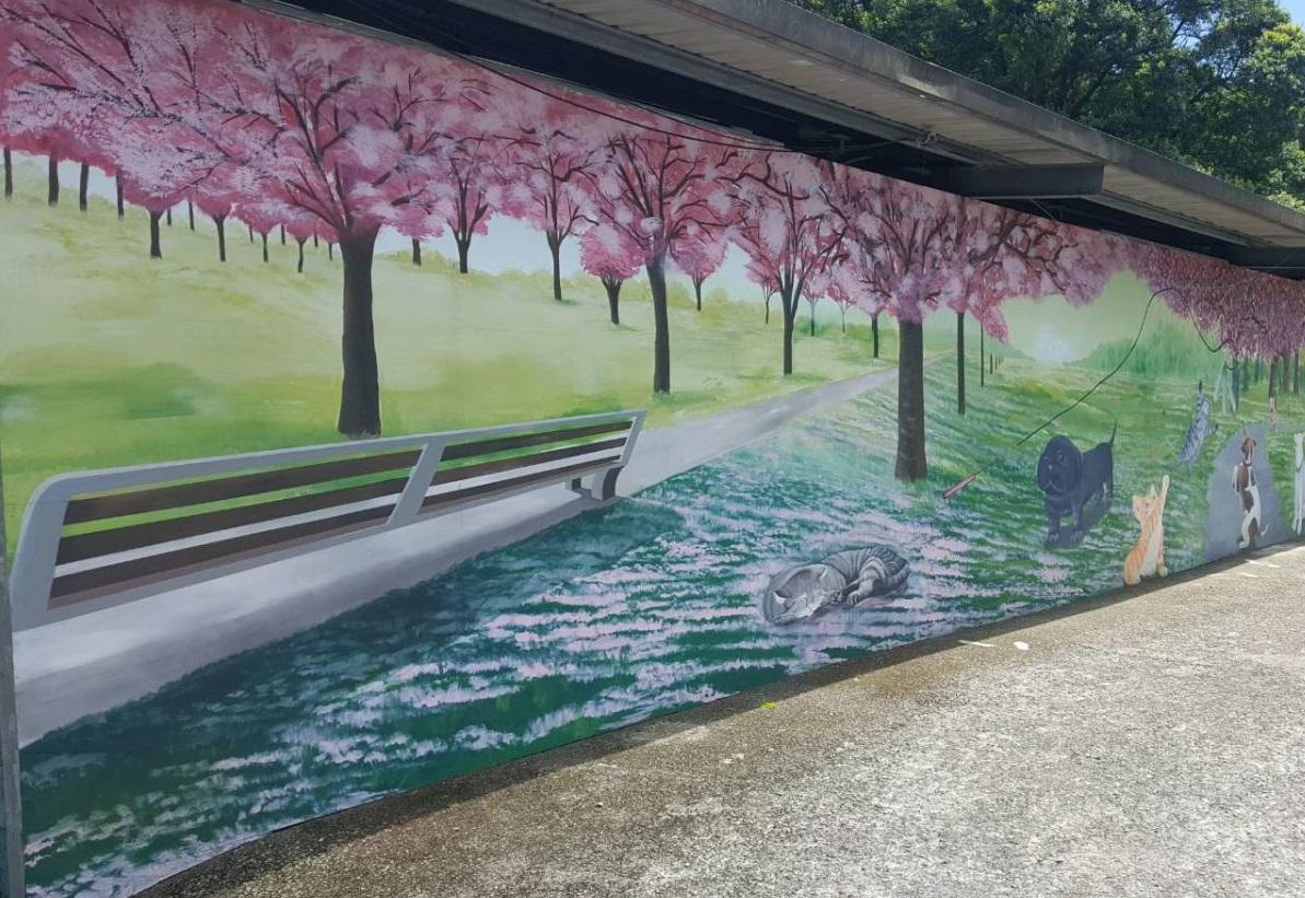 三芝動物之家今年剛完成外牆彩繪,全新3D彩繪圖成為大家可打卡的景點